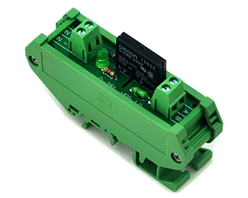 ELECTRONICS-SALON DIN Rail Mount DC5V 1 Channel DC-AC 2Amp G3MB-202P Solid State Relay SSR Module Board.