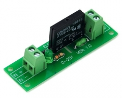 ELECTRONICS-SALON DC5V 1 Channel DC-AC 2Amp G3MB-202P Solid State Relay SSR Module Board.