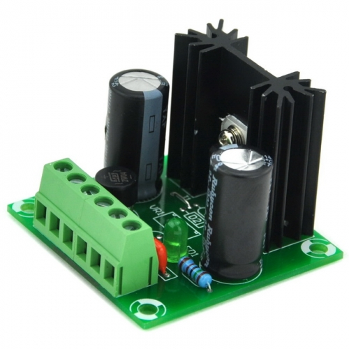 AUDIOWIND 12V DC Positive Voltage Regulator Module Board, Based on 7812.