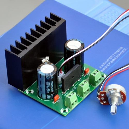 AUDIOWIND 5 Amps 1.5 to 32V Adjustable Voltage Regulator Module, External Potentiometer Adjust.