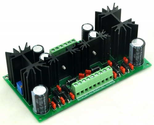 CZH-LABS Ultra-low Noise Adjustable +/-18V DC Voltage Regulator Module, LT1963A LT3015.