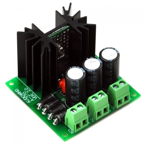 AUDIOWIND Ultra-low Noise <40μV Adjustable Voltage Regulator Module, 1.25~20V / 1.5 Amp.