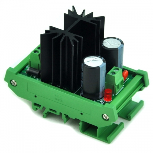 CZH DIN Rail Mount Positive 1.25~37V DC Adjustable Voltage Regulator Module.