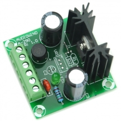 AUDIOWIND -8V DC Negative Voltage Regulator Module Board, Based on 7908 IC, -8V / 1A.