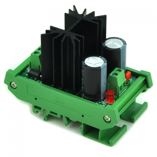 CZH DIN Rail Mount Positive 12V DC Voltage Regulator Module.