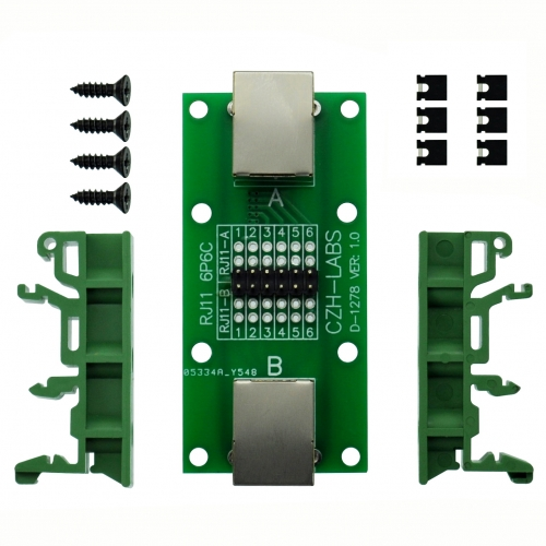 CZH-LABS RJ11/RJ12 6P6C Diagnostic Test Breakout Module Board.