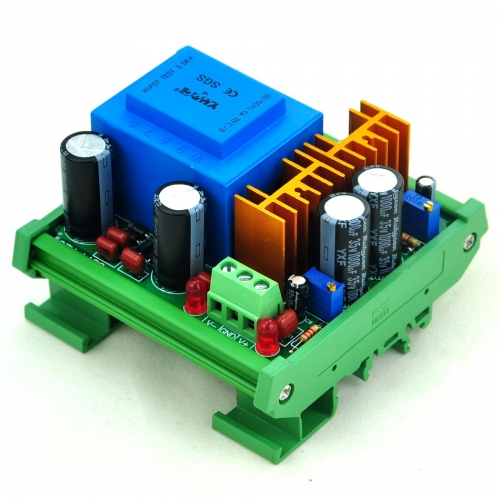 CZH-LABS DIN Rail Mount In AC115V Out +/- DC1.25~15.8V Adjustable Voltage Regulator.