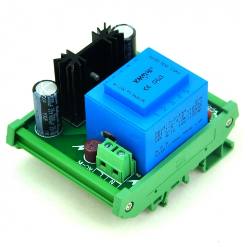 CZH-LABS DIN Rail Mount Input AC115V Output DC1.25~15.8V Adjustable Voltage Regulator.