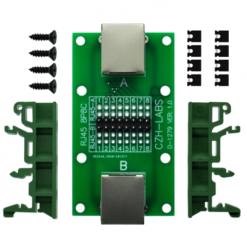 CZH-LABS RJ45 8P8C Diagnostic Test Breakout Module Board.
