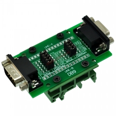 CZH-LABS DIN Rail Mount D'sub DB9 Diagnostic Test Breakout Board, DSUB DB9 Connector Male to Female.