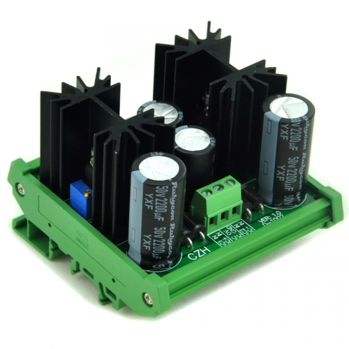 CZH DIN Rail Mount Positive/Negative 1.25~37V DC Adjustable Voltage Regulator Module.