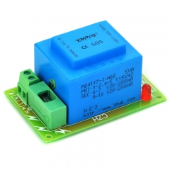 CZH Primary 230VAC, Secondary 2x 15VAC, 5VA Power Transformer Module, D-1005/Q, AC15V.