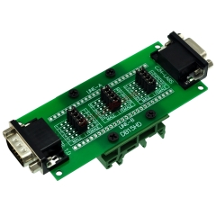 CZH-LABS DIN Rail Mount D'sub DB15HD Diagnostic Test Breakout Board, DSUB DB15HD Connector Male to Female.