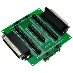 CZH-LABS DIN Rail Mount D'sub DB78HD Diagnostic Test Breakout Board, DSUB DB78HD Connector Male to Female.
