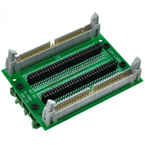 "CZH-LABS DIN Rail Mount IDC60 2x30Pin 0.1"" Pitch(2.54mm) Header Diagnostic Test Breakout Board."