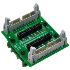 "CZH-LABS DIN Rail Mount IDC30 2x15Pin 0.1"" Pitch(2.54mm) Header Diagnostic Test Breakout Board."