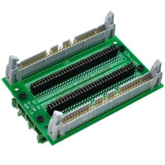 "CZH-LABS DIN Rail Mount IDC64 2x32Pin 0.1"" Pitch(2.54mm) Header Diagnostic Test Breakout Board."