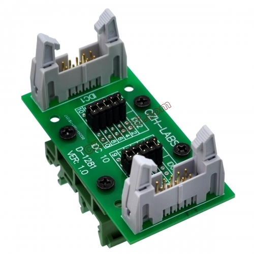 "CZH-LABS DIN Rail Mount IDC10 2x5Pin 0.1"" Pitch(2.54mm) Header Diagnostic Test Breakout Board."