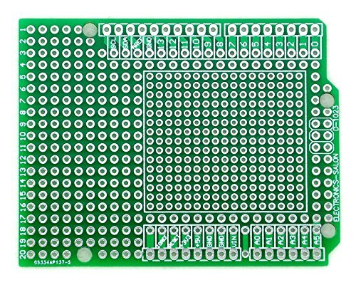 ELECTRONICS-SALON Prototype PCB for Arduino UNO R3 Shield Board DIY, Combo 2mm+2.54mm Pitch.