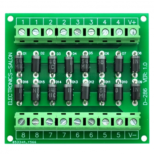 Electronics-Salon Clamp Diode Array Module Board, 16 1N5408 3A 1000V.