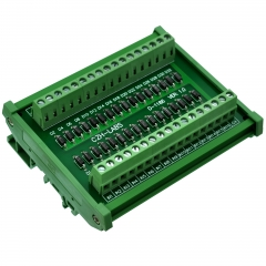 CZH-LABS DIN Rail Mount Common Anode DC Lamp Test Module, 16 Channels.