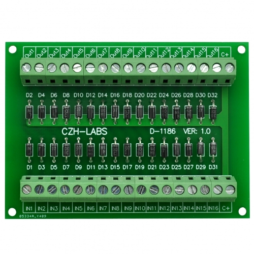 CZH-LABS Common Anode DC Lamp Test Module, 16 Channels.