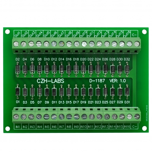 CZH-LABS Common Cathode DC Lamp Test Module, 16 Channels.