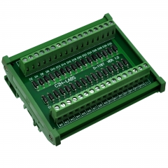 CZH-LABS DIN Rail Mount Common Cathode DC Lamp Test Module, 16 Channels.
