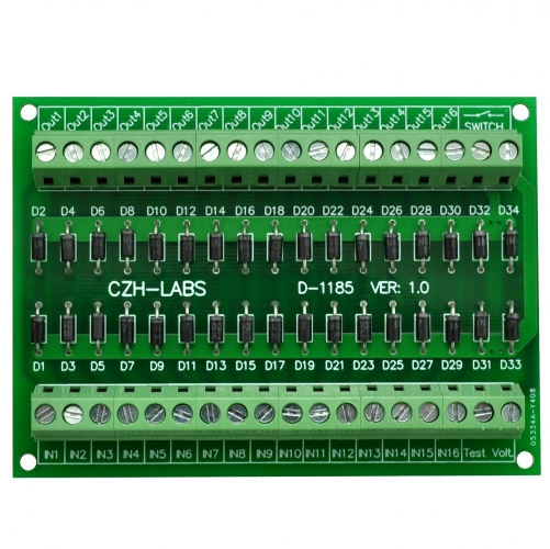 CZH-LABS AC Lamp Test Diode Module, 16 Channels.