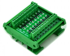 ELECTRONICS-SALON DIN Rail Mount Common Anode 16 Diode Network Module, 1N4007 1A 1000V.
