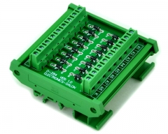 ELECTRONICS-SALON DIN Rail Mount Common Cathode 16 Diode Network Module, 1N4007 1A 1000V.