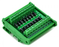 ELECTRONICS-SALON DIN Rail Mount Common Cathode 16 Diode Network Module, 1N5408 3A 1000V.