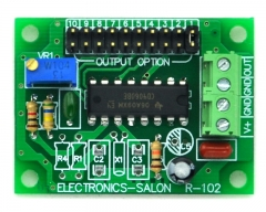 ELECTRONICS-SALON Adjustable Low Frequency Square Wave Oscillator Module, 0.068Hz to 1400Hz.