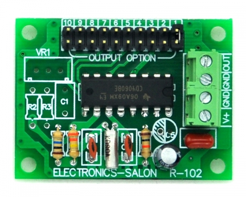 ELECTRONICS-SALON Low Frequency Square Wave Oscillator Module, 2 4 8 32 64 128 256 512 1024 2048Hz.