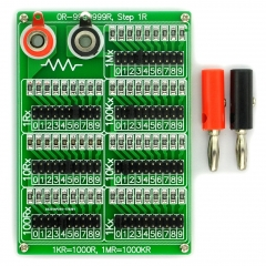 ELECTRONICS-SALON 1R - 9999999R Seven Decade Programmable Resistor Board, Step 1R, 1%, 1/4W.