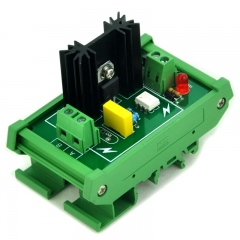 ELECTRONICS-SALON DIN Rail Mount 1 Channel 6 Amp SSR Module Board, in 4~32VDC, out 100~240VAC.