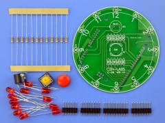 ELECTRONICS-SALON 12 Position LED Electronic Lucky Rotary Board Kit for Arduino UNO R3.