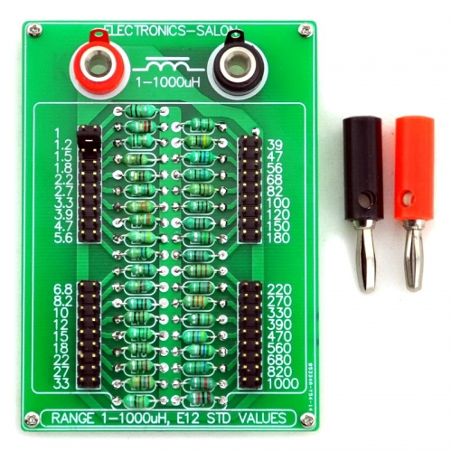 ELECTRONICS-SALON 1uH to 1000uH E12 Standard 37 Values Programmable Inductor Board.