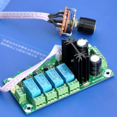 AUDIOWIND Audio Input Selector Relay Board, With 12V regulator.