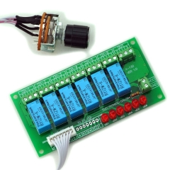 ELECTRONICS-SALON 6 Channel Unbalanced Stereo or Balanced Mono Audio Input Selector Relay Module.