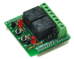 ELECTRONICS-SALON Dual SPDT Power Relay Module, for Arduino Project Applications.