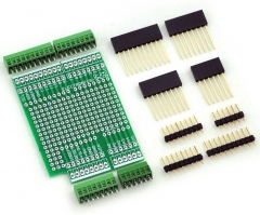 "ELECTRONICS-SALON Prototype Screw Shield Board Kit For Arduino UNO R3, 0.1"" Mini Terminal Block."