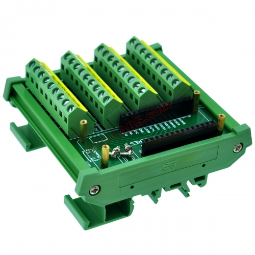 DIN Rail Mount Screw Terminal Block Breakout Module Board for Arduino MKR.