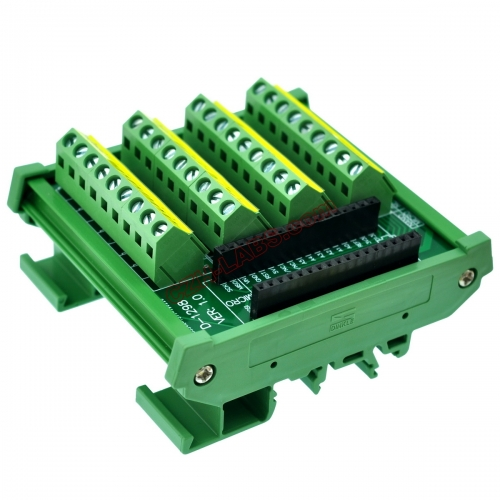 DIN Rail Mount Screw Terminal Block Breakout Module Board for Arduino NANO/MICRO.