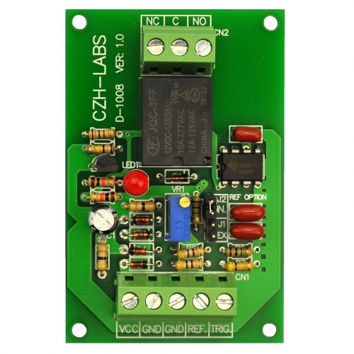 Voltage Comparator Relay Board, DC12V, SPDT 10Amp Relay.