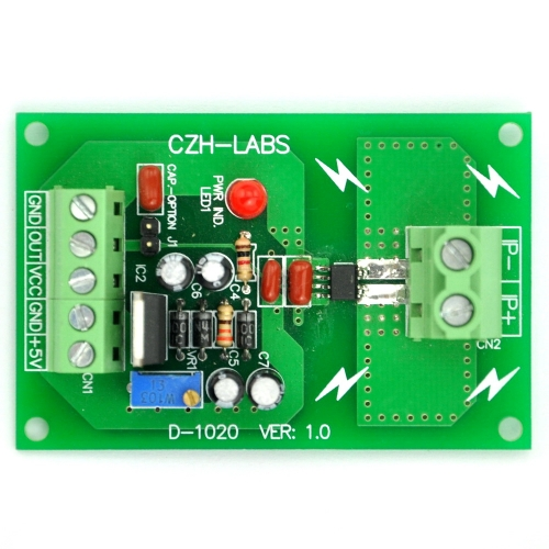 Panel Mount +/-5Amp AC/DC Current Sensor Module Board, based on ACS712.