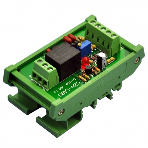 DIN Rail Mount Voltage Comparator Relay Module, DC12V, SPDT 10Amp Relay.
