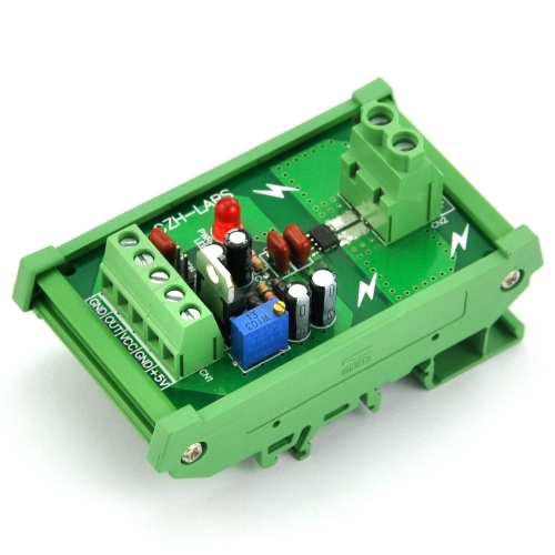 DIN Rail Mount +/-20Amp AC/DC Current Sensor Module, based on ACS712.