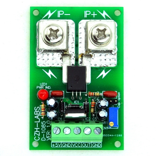 Panel Mount +/-50Amp AC/DC Current Sensor Module Board, based on ACS758.