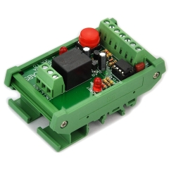 DIN Rail Momentary-Switch/Pulse-Signal Control Latching SPDT Relay Module, 12V.